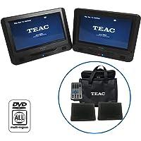 TEAC DVP902T 9IN Twin Screen in CAR Portable DVD Player, Black
