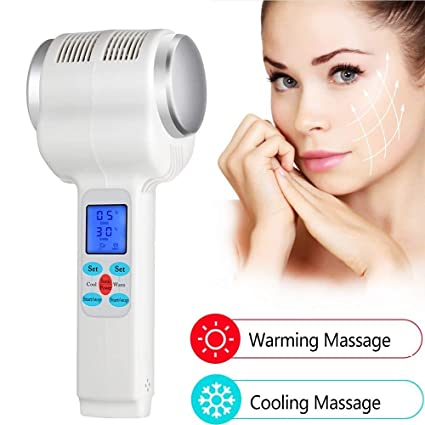 Amazon com: Facial Massager Ultrasound Cold Skin Warming