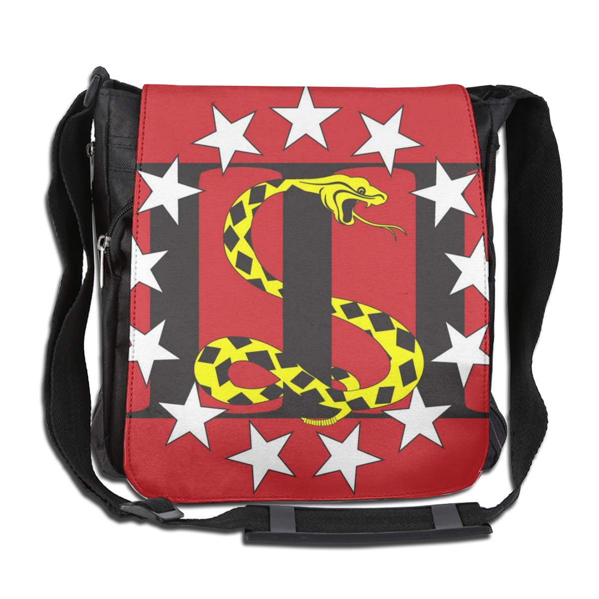 The Snake On The Flag Fashion Diagonal Single Shoulder Workout Bag