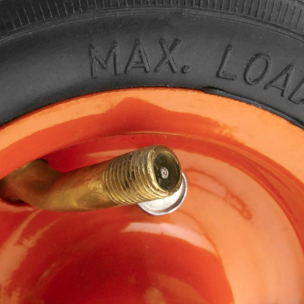 Roue de brouette pneumatique 136 Kg 6x2 152x50 mm pour charettes Chariots et Plates-Formes de Transport PrimeMatik