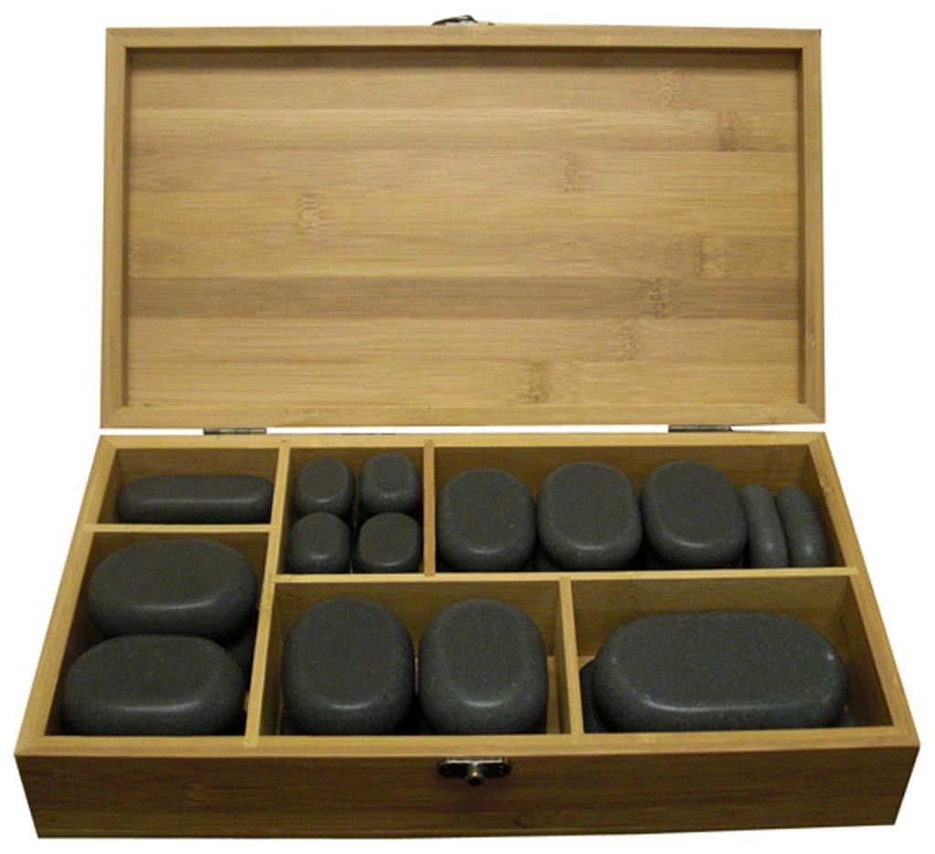 DERMALOGIC Massage Luxury 45 pc Set Long Lasting Heat w/ Basalt Smooth Stones for Comfort and Ultima Massage Experience