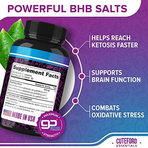 BHB Keto Pills - Keto BHB Capsules for Weight Loss - Keto Fit Pills Made in USA - BHB Exogenous Ketones Supplement for Ketogenic Diet - Keto Advanced Weight Loss 3000 mg - Keto Fast Diet Pills 4