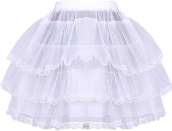 Haitryli Kids Girls 3 Layers Petticoat Crinoline Slip Flower Girls Wedding Pageant Underskirts