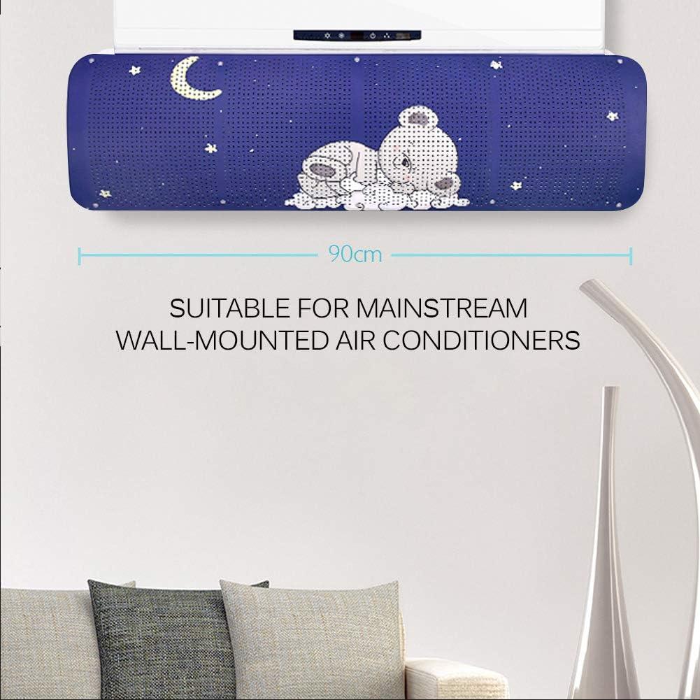 Aire Acondicionado Deflectores,Deflector para Aire Acondicionado de Aire y Puede Girar 180 Grados para Ajustar el /ángulo. Azul
