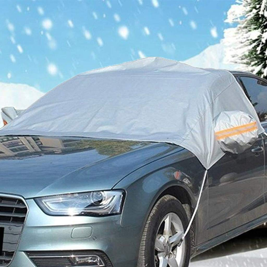 EnjoCho Winter Snow Ice Sun Shade Dust Frost Freezing Car Windshield Cover Protector Prevent Windshield Shield Windscreen (Gray)
