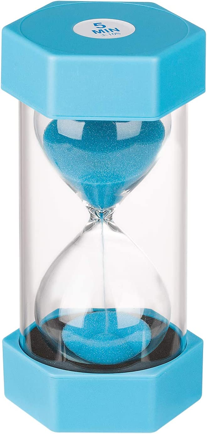 KSMA Kids Sand Timer 5 Minutes Hour Glass,Colorful Hourglass for Kids,Office,Classroom,Kitchen,Games,Toothbrush