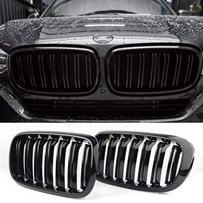 Front Replacement Kidney Grille Grill Compatible with BMW X5 Series F15 X6 Series F16 X5M F85 X6M F86 (Gloss Black): Automotive