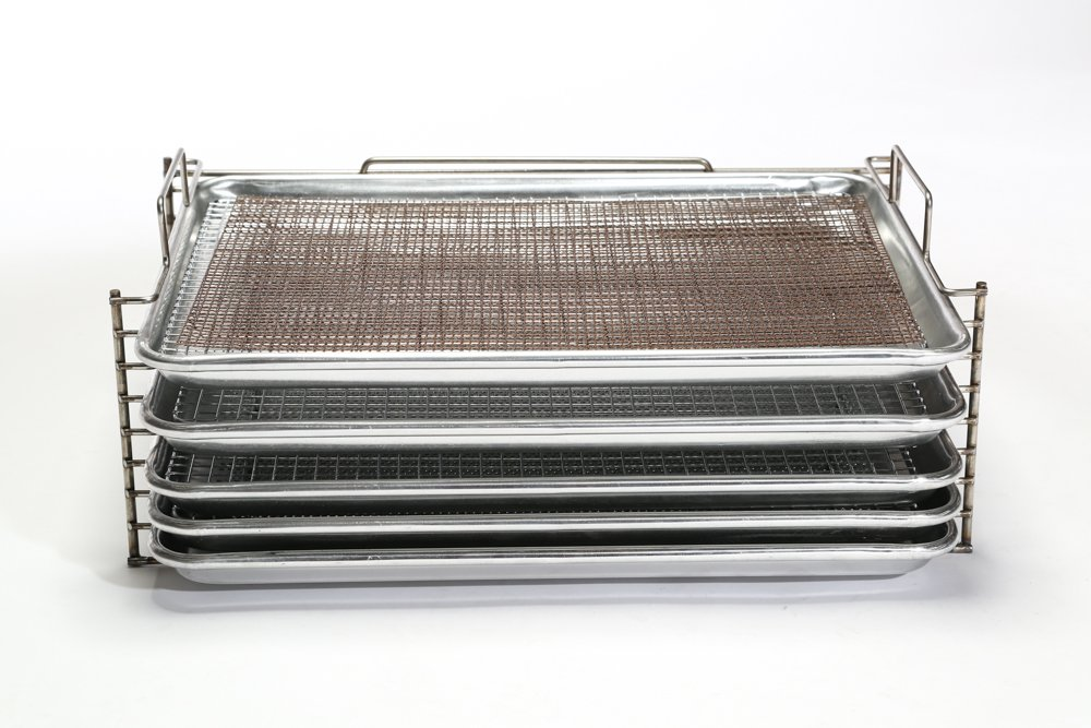 Bull Rack - BR4 Ultimate Package - Grill Tray System - Grill, Smoke, Dry and Cure Meats and Vegetables - Grilling Rack and Tray