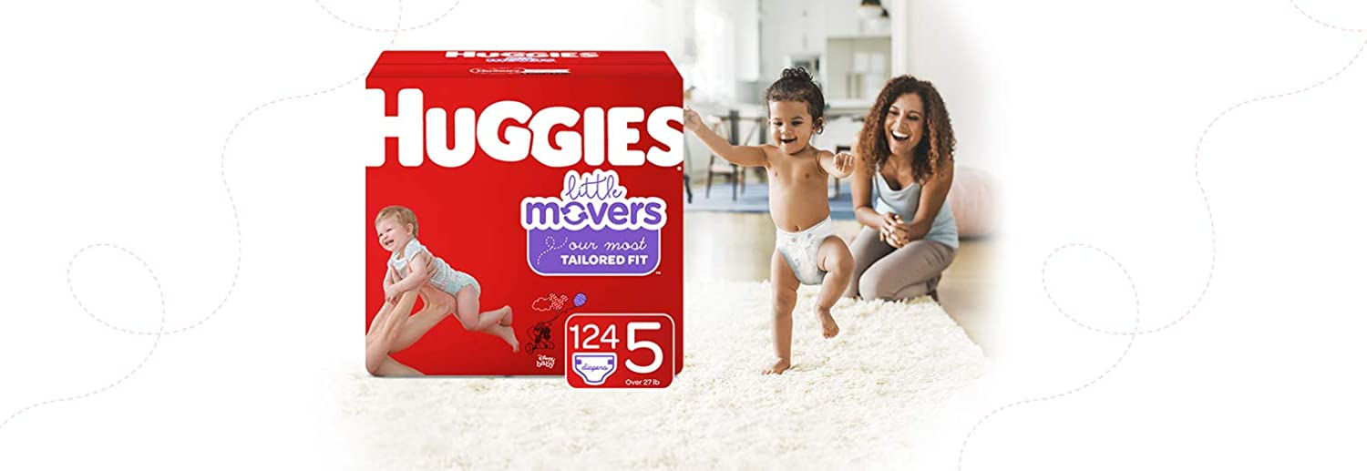 Huggies Brand Bundle 104 Ct /& Huggies Natural Care Unscented Baby Wipes Huggies Little Movers Baby Diapers Size 6 288 Total Wipes 6 Disposable Flip-Top Packs Sensitive Packaging May Vary