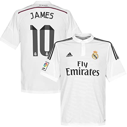 f542b8f349b Image Unavailable. Image not available for. Color  adidas Real Madrid Home  Jersey James  10 2014 2015 ...