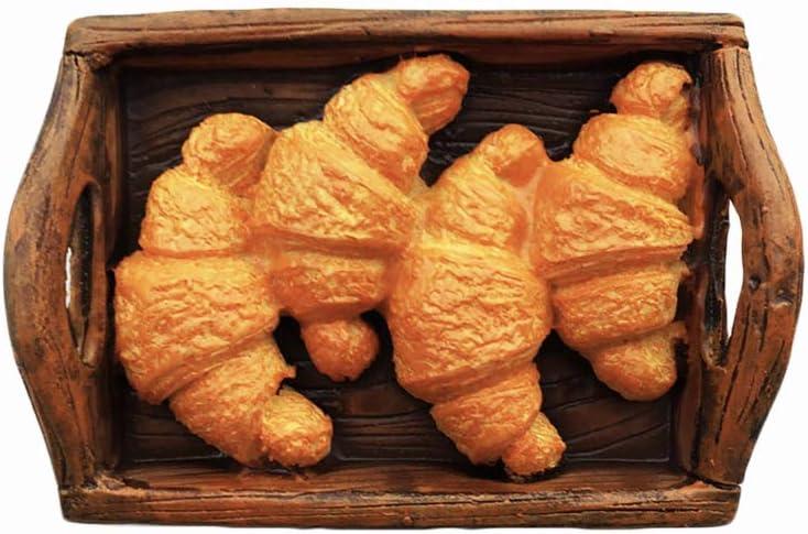 Delicious Food 3D Croissant Refrigerator Magnet Resin Travel Souvenirs,Handmade Home & Kitchen Decoration Croissant Fridge Magnet Collection Gift