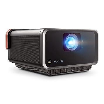ViewSonic X10-4K Proyector SMART LED UHD portátil de tiro corto con altavoces Harmon Kardon dobles, carbón metálico