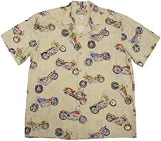 product image for Paradise Found Mens Maui Motorcycle Shirt Bamboo Cream 2X