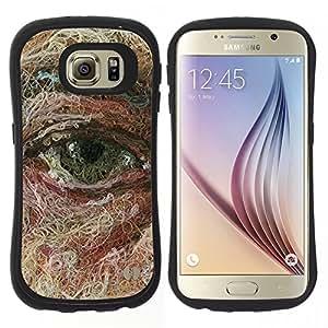 """Pulsar iFace Series Tpu silicona Carcasa Funda Case para Samsung Galaxy S6 , Cara Pintura Arte Significado Profundo"""""""