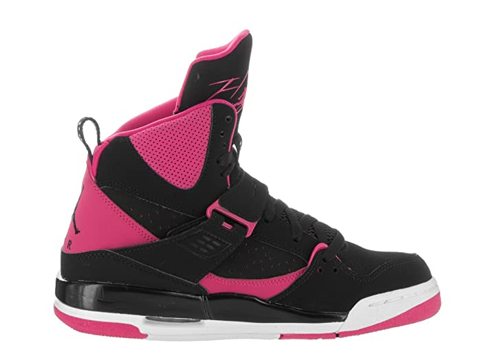 wholesale dealer b7625 a6d57 ... women Nike Girls Jordan Flight 45 High IP GG Basketball Shoes, Black  (Black Vivid Pink ...