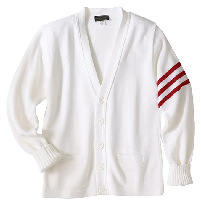 Men's Vintage Style Sweaters – 1920s to 1960s Ed Garments Mens Varsity V-Neck Cardigan Sweater $78.13 AT vintagedancer.com