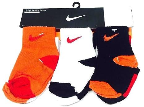 Nike Swoosh Baby Boy de 6 par Calcetines 6 - 12 Meses, Color Negro ...