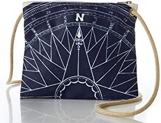 product image for Sea Bags Recycled Sail Cloth Navy True North Slim Cross Body Bag