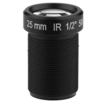 fosa Lente para Cámara CCTV, de 5 Millones de Píxeles, Longitud Focal 25mm,