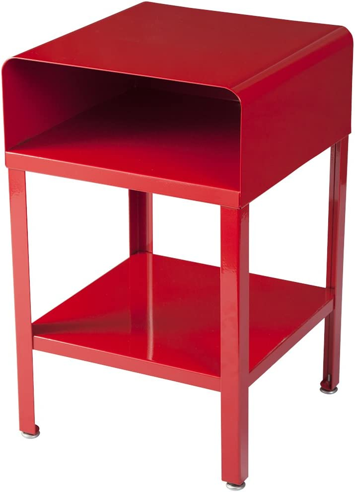 RMP Retro Metal Nightstand - Red