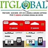 CANON PG 89 Black & CL 99 Color [Set of 2 Cartridge] -Special ITGLOBAL Combo With Scratch & Win Reward Offer - From ITGLOBAL