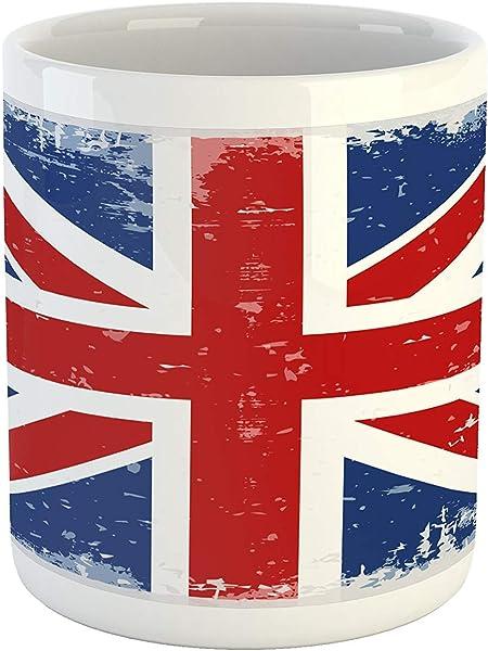 Mug Britannique Résumé Angleterre Drapeau De Londres Old
