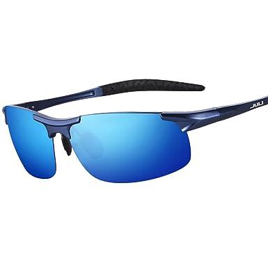 JULI-Sport-Sonnenbrille polarisiert Designermode Sonnenbrillen für Männer Frauen fahren Baseball Radfahren Angeln Golf Al-Mg-Legierung superleichten unzerbrechlich Frame Fz658h