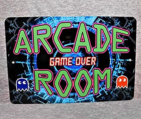 Yilooom Cartel de Metal Arcade Room Video Games Penny Coin ...