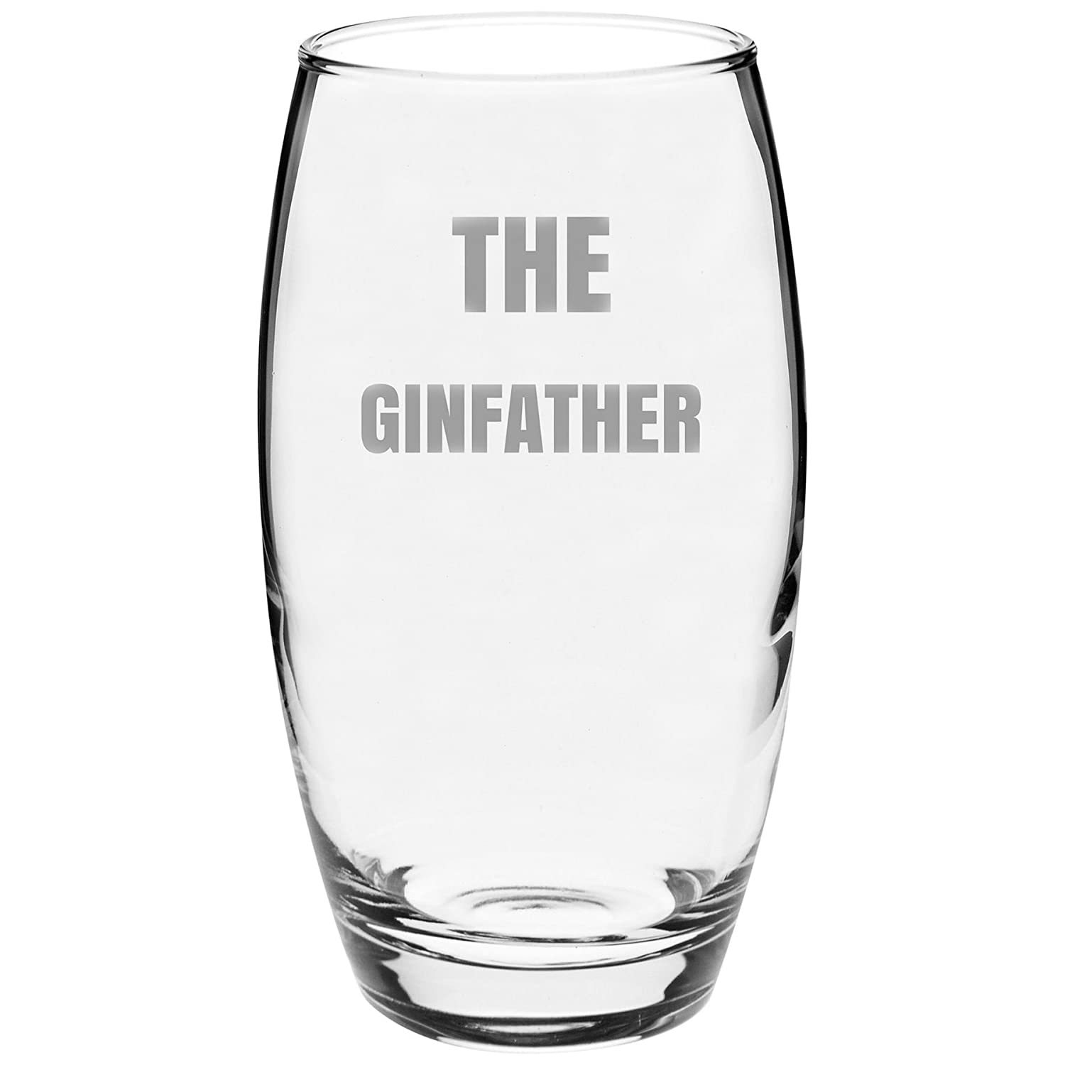 Argon Tableware Engraved Glass Highball Cocktail Tumbler - The Ginfather - 510ml