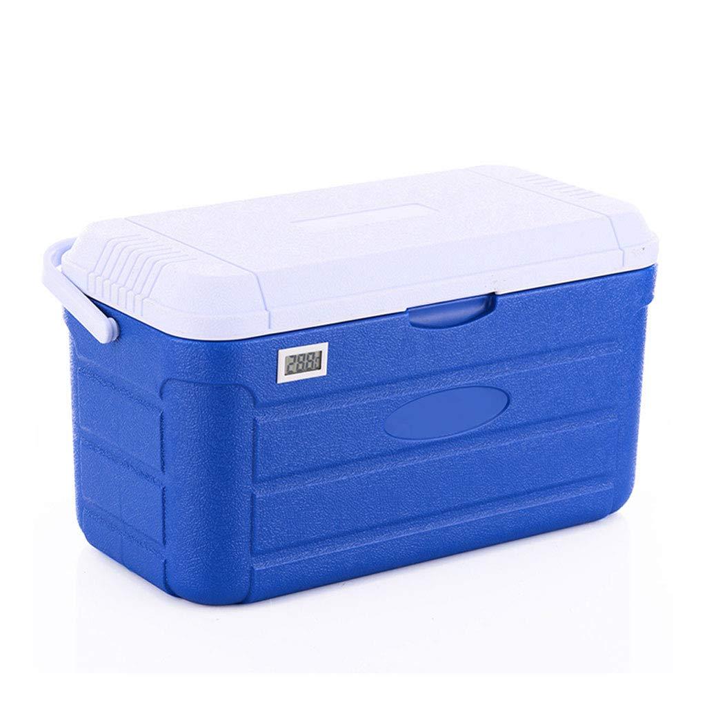 To Isolierbox, Gefrierschrank Aufbewahrungsbox Mit Strap Thermometer Display, Blau