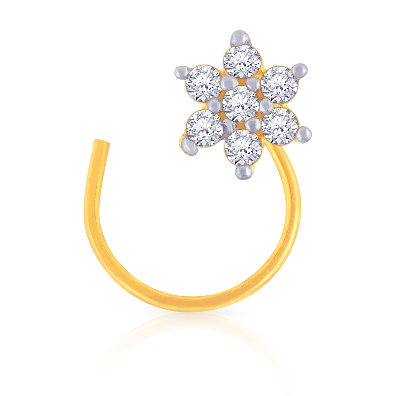 Buy Malabar Gold And Diamonds 22k 916 Yellow Gold Nose Ring At