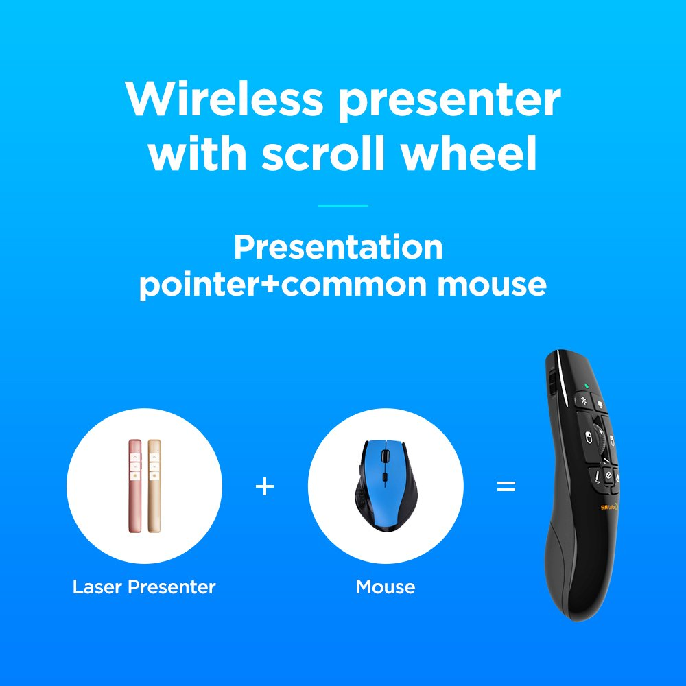Lefant F8 2.4GHz Wireless Remote Presenter with Red Laser Pointer Air Mouse with Scroll Wheel for PPT Keynote Presentation by Lefant (Image #4)