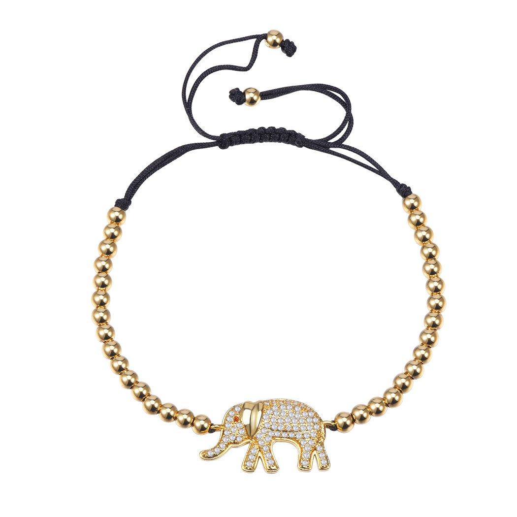 Suplight Damen Armband 18k vergoldet Perlenarmband AAA Zirkonia ...