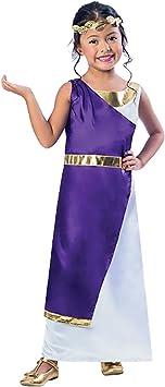 Disfraz de niña griega romana 9-10 años: Amazon.es: Juguetes y ...