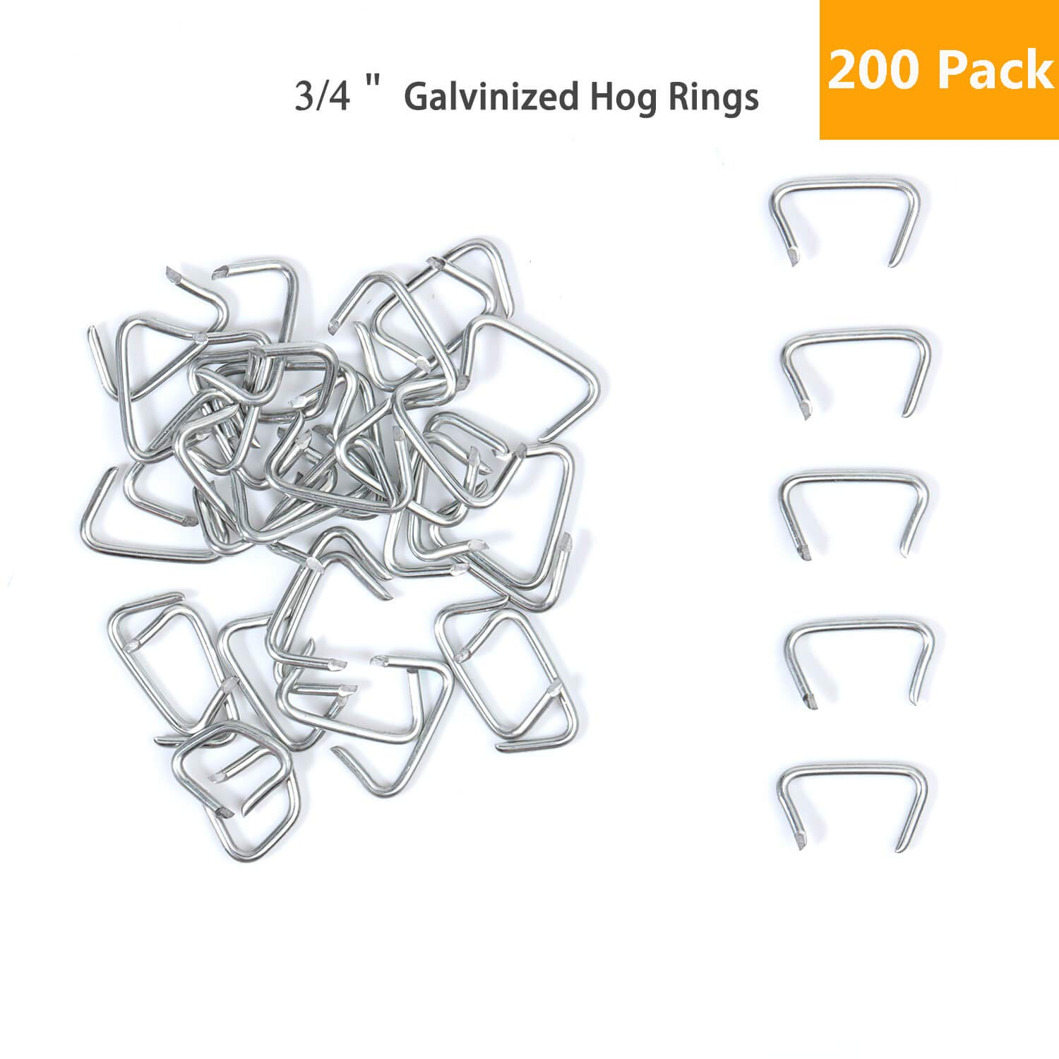Hog Ring Pliers Kit Perfect Fo 200 Pack Of Galvanized Steel Hog Rings Included