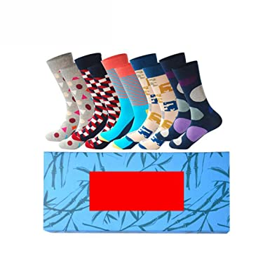 PinkBTFY Mens Cotton Colorful Happy Socks Gift Box Fruit Crazy Calcetines Hombre Funny Skate Socks B1