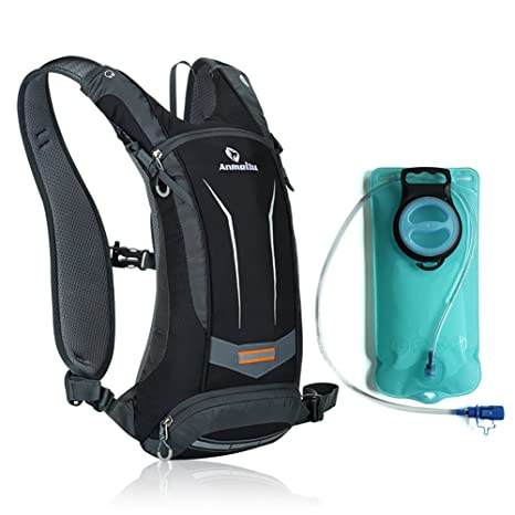 ANMEILU 8L Hydration Pack Backpack + 2L TPU Water Bladder Bag, Water Resistant Outdoor Sports