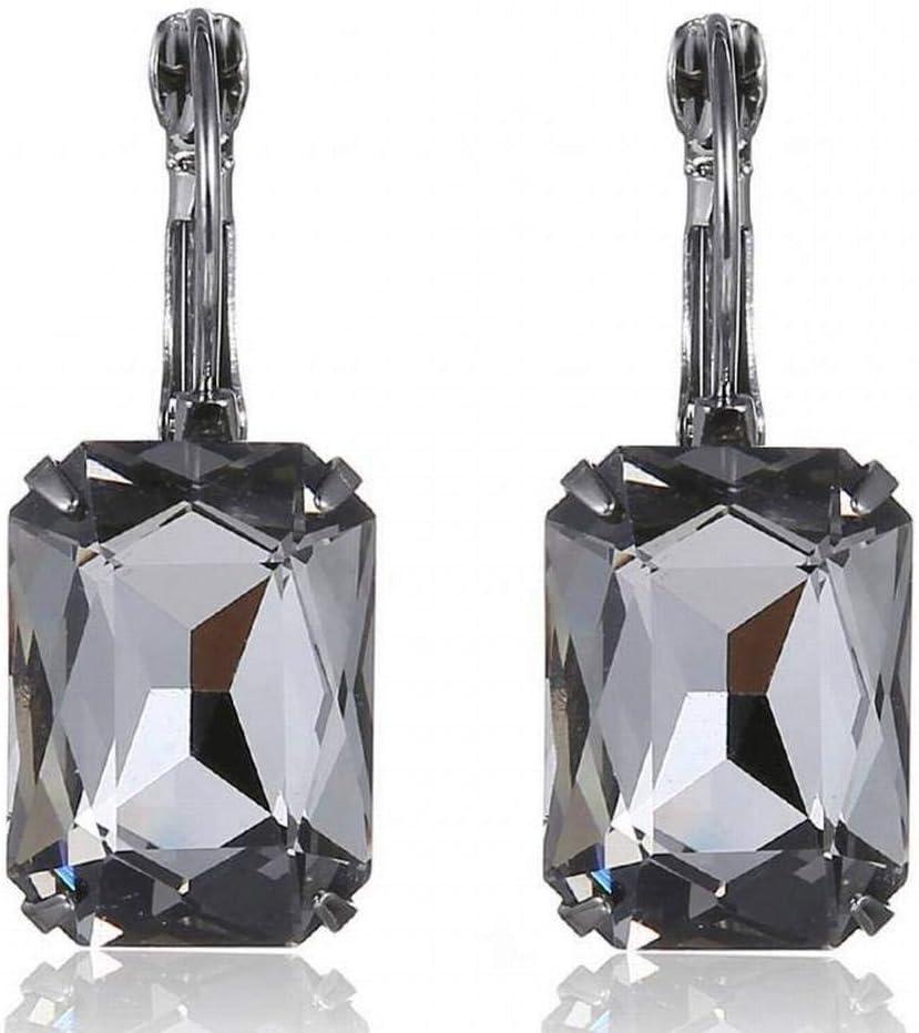 BinLZ Pendientes de Piedras Preciosas de Cristal de Navidad Pendientes