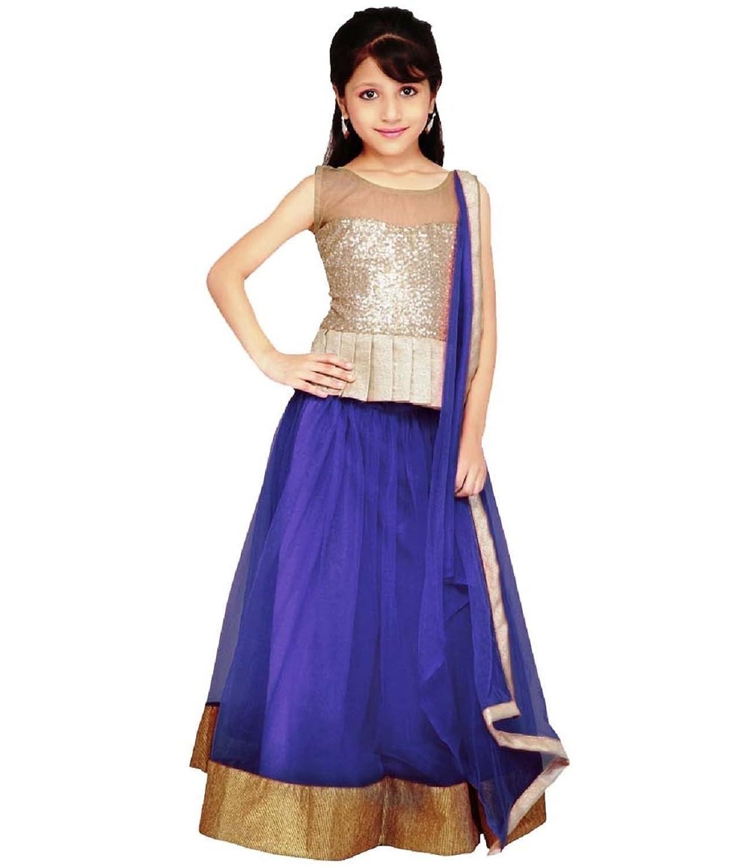 Amazon.com: gorgeous fashion Big Girls\' Lehnga Choli Free Size Nevy ...