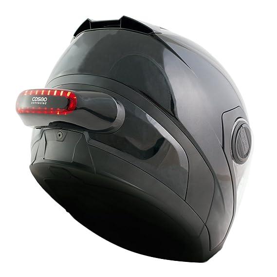 Cosmo Connected CM-01-01-001-SP Luz de Freno Conectada e Inteligente para Motoristas, Color Negro Brillante: Amazon.es: Coche y moto