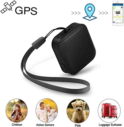 Mini GPS Tracker for Kids Real Time GPS Tracker with Voice Monitoring SOS Emergency for Kids Children Adults Elderly Pet Vehicle Assets Personal GPS Tracker