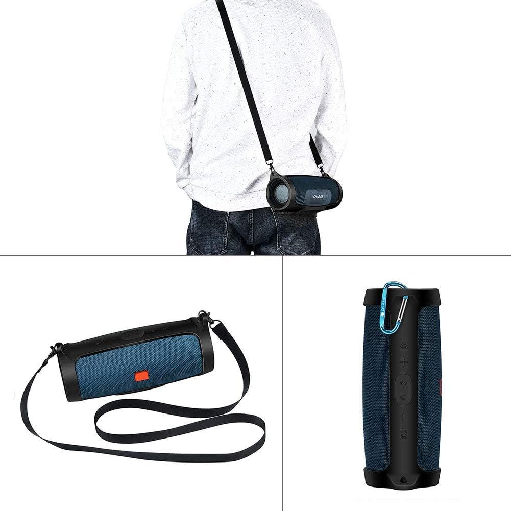 Orange Schutzh/ülle Haken Tragbare Bluetooth-Lautsprecherbeutel Anti-verlorene Box Reise Tragen Wasserdichte Schultergurt Mit Karabiner Silikon-Speicherabdeckung