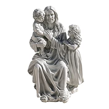 Amazoncom Design Toscano Jesus Loves the Little Children Garden