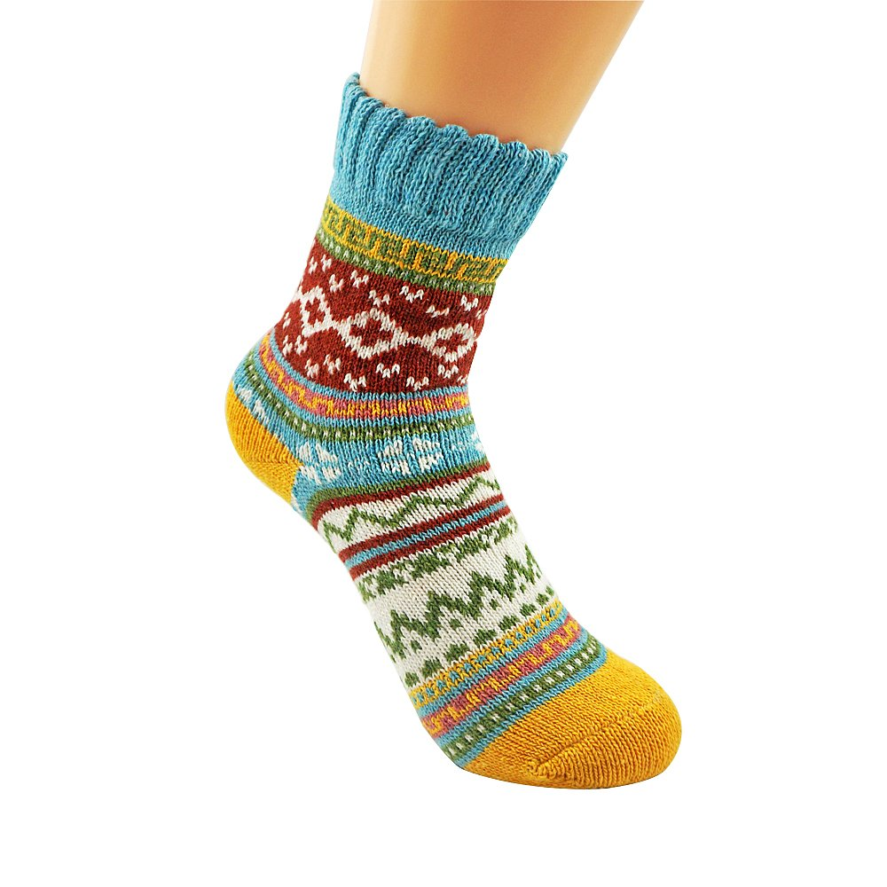Women's 5-pack Thick Soft Cotton Knitting Wool Warm Winter Fall Crew Socks