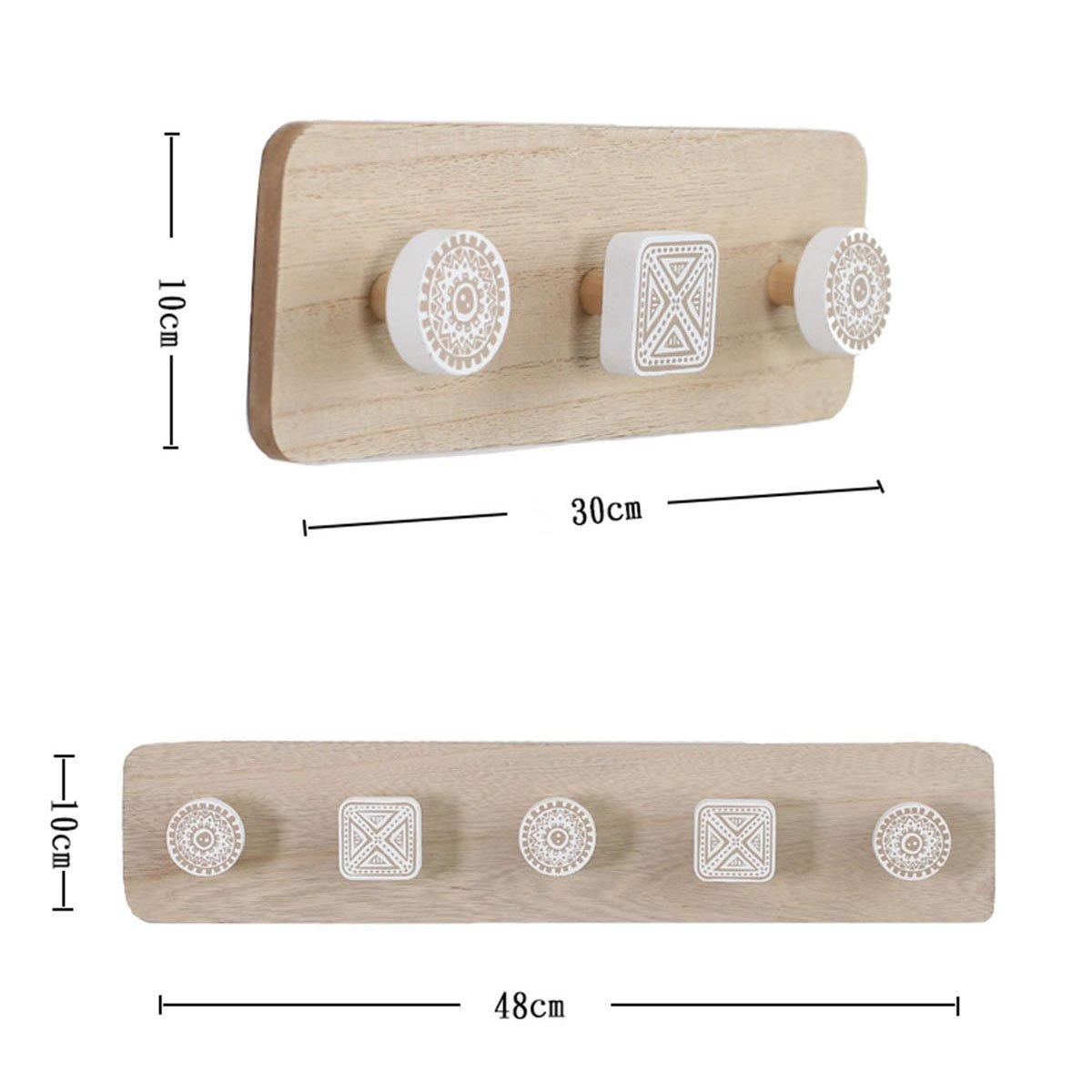S+L shanzhizui Appendiabiti in legno moderno minimalista nordico Attaccapanni creativo da parete Decorazioni murali dingresso