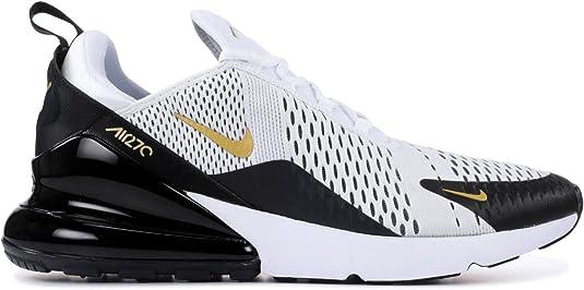 Nike Men's Air Max 270 White/Black/Gold AV7892-100 (Size: 9.5)