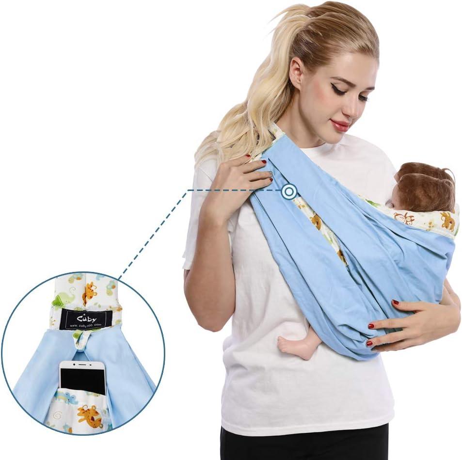 Cuby Fulares de portabeb/és para los beb/é o ni/ños entre 0-3 a/ños para mantenerle m/ás tranquila y c/ómodo adjustable baby sling de algod/ón y tela