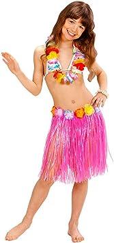 NET TOYS Falda Hula Hawaiana Infantil Hawai Aloha Fiesta Ropa ...