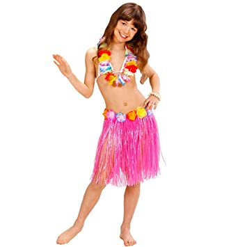 NET TOYS Falda Hula Hawaiana Infantil Hawai Aloha Fiesta ...