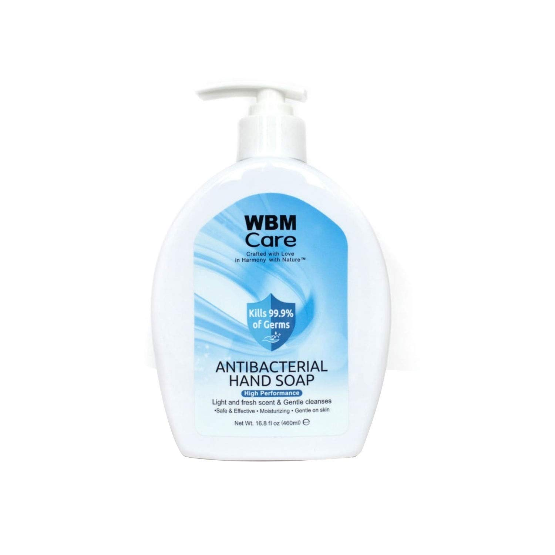 WBM NaturalHand Soap-Multipurpose Liquid Soap in Pump Dispenser - Natural Bathroom Soap & Liquid hand wash - 16 fl oz